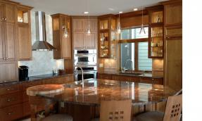 Kitchen, butcher block,