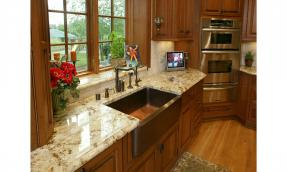 Copper Farm House Sink Kitchen Remodel Pewaukee